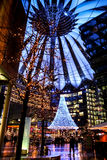 Inside the Sony Center in Berlin Stock Photos
