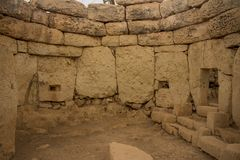 Mnajdra Temple | South temple Equinox royalty free stock photo