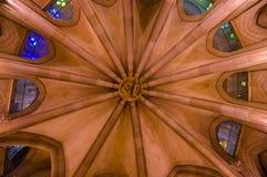 Inside spektakularny Barcelona kościelny los angeles Sagrada Fotografia Royalty Free