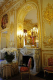 Inside Splendid royal palace with Fireplace Royalty Free Stock Image