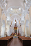Inside of St Casimir Jesuit church. Vilnius. Lithuania. Stock Images