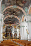 Inside of the St. Gallen cathedral Stock Photo