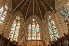 Inside St. James Cathedral in Toronto,Canada royalty free stock photos