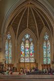 Inside St. James Cathedral in Toronto,Canada Stock Images