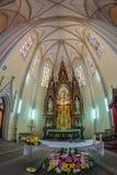 Inside of St. Mary`s Cathedral, Novi Sad, Romania royalty free stock photo