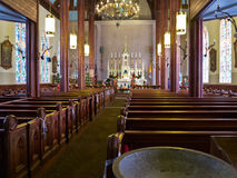 Inside St. Marys in the Mountains, Virginia City,  Stock Image