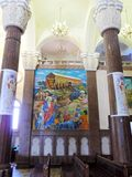 Inside St. Mina Cathedral at Egypt. St. Mina Cathedral Egypt Stock Photography