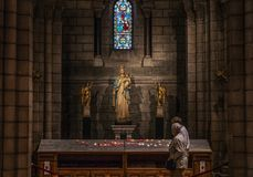 Inside St Nicholas Cathedral, Monaco stock photography
