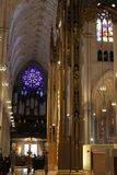 Inside St. Patrick`s Cathedral - New York City Stock Image