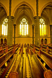 Inside of the St Patricks Cathedral. Inside St Patricks Cathedral Melbourne Victorla Australia with sunlight falling in from the side Royalty Free Stock Photos