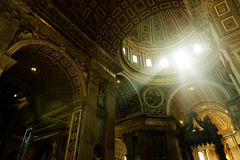 Inside the St. Peter Basilica Royalty Free Stock Photography