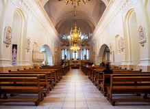 Inside St Peter and Paul Cathedral in Siauliai, Lithuania Royalty Free Stock Images