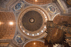 Inside of St. Peter's Basilica in Rome, Italy Royalty Free Stock Photography