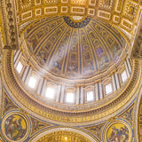 Inside the St. Peter's Basilica in Vatican. Stock Image