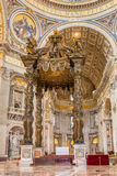 Inside the St. Peter's Basilica in Vatican. Royalty Free Stock Photography