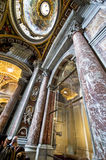 Inside st.Peter's Cathedral in Vatican Royalty Free Stock Photos