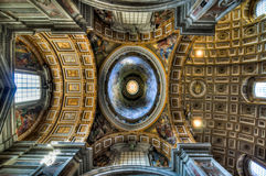 Inside St. Peter - Vatican City Royalty Free Stock Image