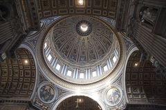 Inside St. Peter in Vatican Royalty Free Stock Images