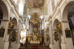Inside St. Peters Church Munich Royalty Free Stock Photos