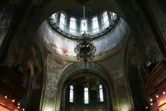 Inside St. Sophia Church. Harbin construction art museum, St. Sophia Church at night Royalty Free Stock Images