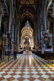 Inside of St. Stephen's Cathedral in Vienna, Austria Royalty Free Stock Photography
