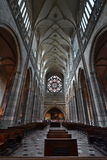 Inside of St Vitus Cathedral stock photos