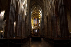 Inside the St. Vitus Cathedral Stock Photo