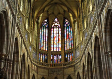 Inside St. Vitus Cathedral Stock Image