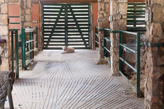 Inside a stable. Natural light. Royalty Free Stock Photo
