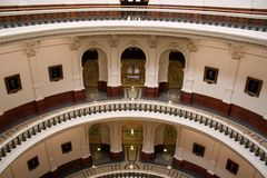 Inside the State Capitol Building in downtown Austin, Texas Stock Image
