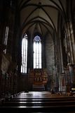 Inside Stephans cathedral Royalty Free Stock Photo