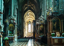 Inside Stephans cathedral Vienna Stock Photo