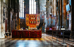 Inside of Stephansdom cathedral Stock Photos