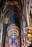 Inside of Stephansdom cathedral Royalty Free Stock Image