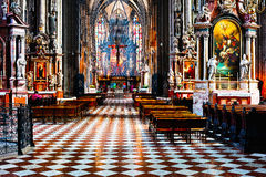 Inside of Stephansdom cathedral Royalty Free Stock Photos