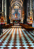 Inside of Stephansdom cathedral Stock Images