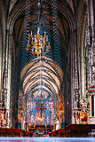 Inside of Stephansdom cathedral Royalty Free Stock Images