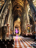 Inside Stephen cathedral in Vienna Stock Photography