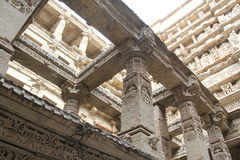 Inside stepped well of Patan, India Stock Photos