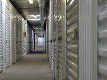 Inside Storage Units stock photography