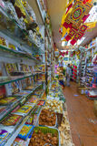 Inside of a store specialized in indian products Royalty Free Stock Photos