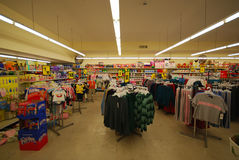 Inside of a store in USA Royalty Free Stock Images