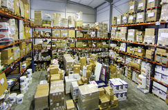 Inside store warehouse 014 Royalty Free Stock Photos