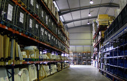 Inside store warehouse Royalty Free Stock Image