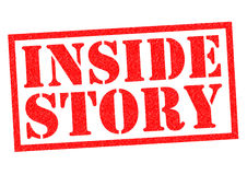 INSIDE STORY. Red Rubber Stamp over a white background Stock Photos