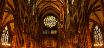 Inside Strasbourg's Cathedral Stock Photos