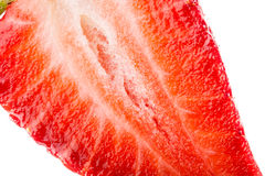 Inside a strawberry Royalty Free Stock Photography