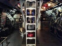 Inside submarine stock photo