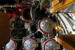 Inside submarine U 11. stock image