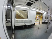 Inside the subway train royalty free stock image